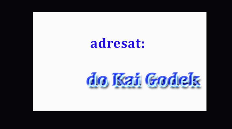List do Kai Godek